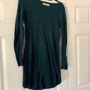 Forest green sweater dress